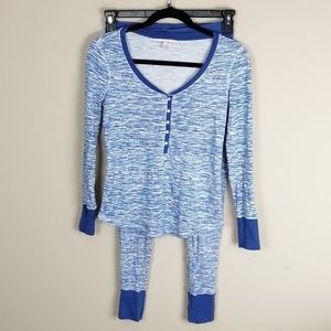 Victoria's Secret blue space dye thermal pajamas